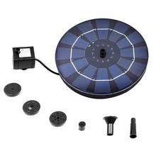 цена на Upgraded Solar Fountain Panel Kit Bird Bath Lotus Leaf Portable Fountain Water Pump Solar Water Fountain Pump Submersible