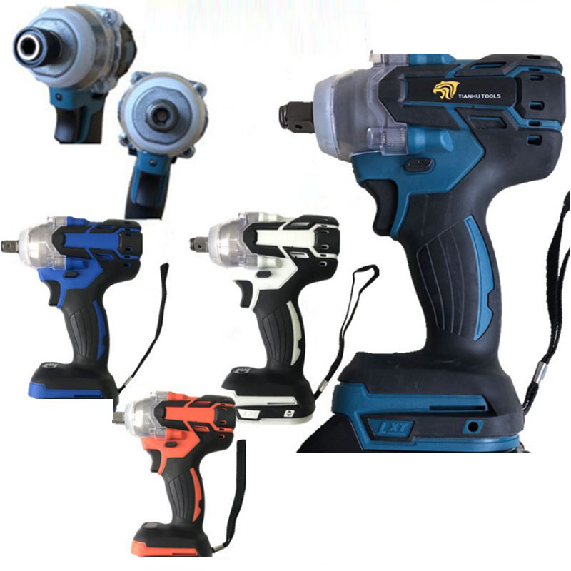 18V 520Nm Electric Brushless Impact Wrench Rechargeable 1/2 Socket Wrench Power Tool Cordless Without Battery&accessories
