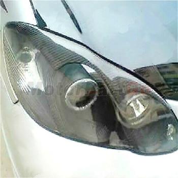 Real Crabon Fiber Head light Eyelid Eyebrow Cover Trim 1pair for  Toyota Corolla 03-08 T227 1