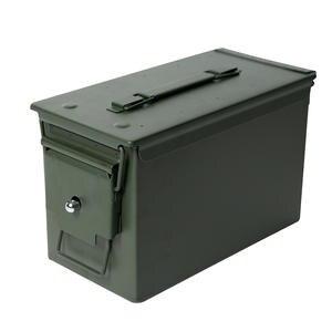 Box Ammo-Case Gun Storage-Holder Bullet-Box Military 50 Cal Metal Tactical Lockable M2A1