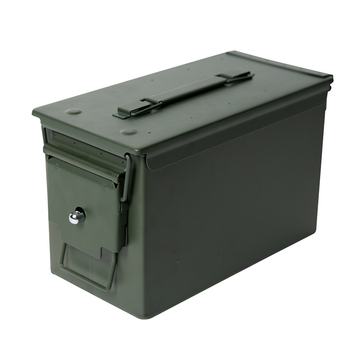 50 Cal Metal M2A1 Ammo Can Military & Army Style Steel Box Gun Ammo Case Storage Holder Box Heavy Tactical Bullet box Lockable