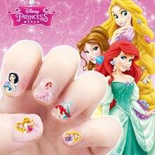 Disney Frozen Nail Stickers Cute Snow White Princess Sofia Mickey Minnie Sticker Elsa And Anna Makeup Toys Girls Gift Kids Toys