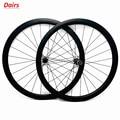 Carbone roues 700c pneu Tubeless 38x25mm 100x12 142x12 1700g disque vélo roues carbone frein à disque 700c