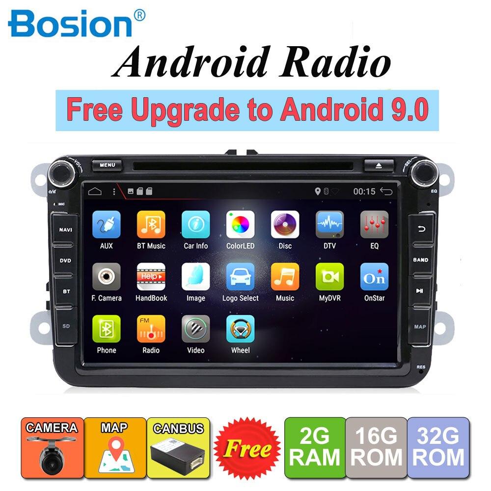 MK5 MK6 2DIN Android 9.0 DVD Do Carro para Volkswagen GOLF PASSAT B6 POLO SKODA Fabia GPS de Navegação de Rádio USB/ SD PC Canbus mapa
