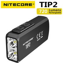 100% Оригинальный мини-светильник NITECORE TIP2 CREE XP-G3 S3 720 люмен USB Перезаряжаемый брелок-светильник Пышка с батареей
