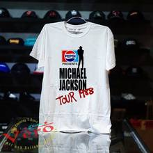 Michael Jackson Vintage BAD Pepsi Concert Tour 1988 TOP T shirt Shirts Short Sleeve top tee