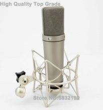 Ücretsiz kargo yüksek kalite U87, Supercardioid kondenser vokal mikrofon, U87 kondenser Microfonos, stüdyo kondenser mikrofon