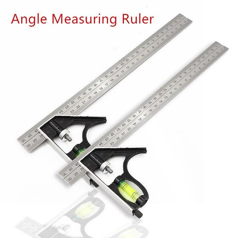 DIY точным Нержавеющаясталь измерительной линейкой инструменты алюминиевого Комбинации передвижная мастерская оборудования угол сфериче...