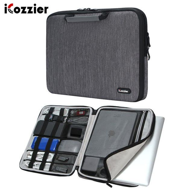 """iCozzier 11.6/13/15.6 Inch Handle Electronic accessories  Laptop Sleeve Case Bag Protective Bag for 13"""" Macbook Air/Macbook Pro"""