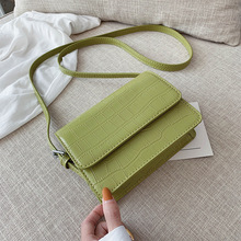 Leather PU Crocodile Pattern stone Crossbody Bags For Women 2019 Handbag small