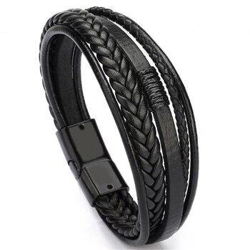 Bracelet Cuir avec fermeture pour hommes
