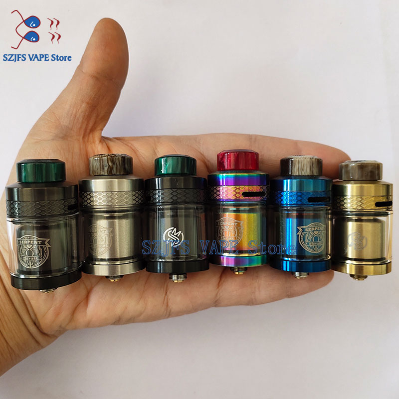 Vape Atomizer SERPENT ELEVATE RTA Tank 3.5ml 4.5ml 24MM Rebuildable  Top Filling PEI Drip Tip Top Airflow Adjustable Vape Pens