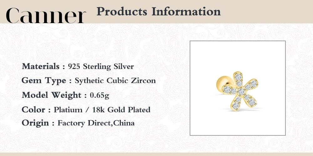 Canner 1 шт 925 пробы серебряные серьги гвоздики helix daisy