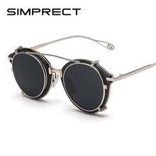 Мужские и женские круглые солнцезащитные очки simprect Ретро