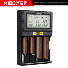 MiBoxer C4 batterie chargeur intelligent Double AA Max 2.5A/fente Super rapide 18650 14500 26650 chargeur décharge Charge fonction