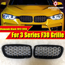 купить For BMW F30 F31 3 Series Kidney Grill Grille ABS Gloss Black New M3 Look Sport 318i 320i 320d 325i 340i Front grills 2012-2018 дешево