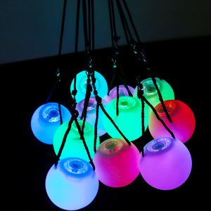 Belly Dance Balls RGB Glow LED POI Thrown Balls for Belly Dance Hand Props Stage Performance Accessories 1Pair/1Pc LED POI