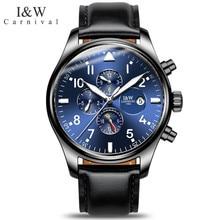 Relogio Masculino CARNIVAL Brand Luxury Automatic Watches Mens Waterproof Fashion Luminous Mechanical Wristwatch Clock Men 2020