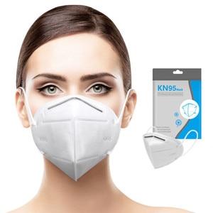 100 pces 4 camadas kn95 máscaras anti poeira ffp2 máscaras descartáveis kn95mask algodão tecido protetor 95% filtragem kn95 mascarillas