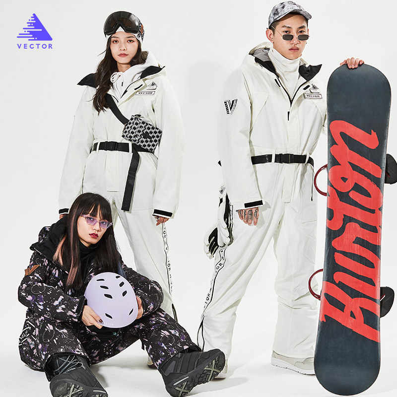 YOJOLO Combinaison De Ski Femmes Hommes Ski Snowboard Veste Dossards De Neige Chaud Coupe-Vent Imperm/éable Costume Neige Ski V/êtements Hiver Manteau De Sport en Plein Air