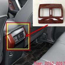 For Toyota Prado Fj150 2010-2017 ABS Plastic Car Back Rear Air Condition outlet Vent frame cover trim Car Accessories 1pcs for toyota land cruiser prado fj150 lc150 2010 2017 abs matte rear air conditioning vent outlet cover trim car styling accessory