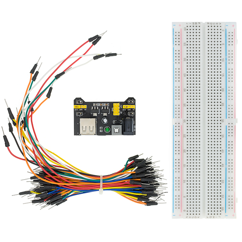 3,3 V/5V MB102 Breadboard Power Modul + MB 102 830 punkte Solderless Prototyp Brot Board Kit + 65 flexible Jumper Drähte|solderless 5pcs|test boardtest pcb -