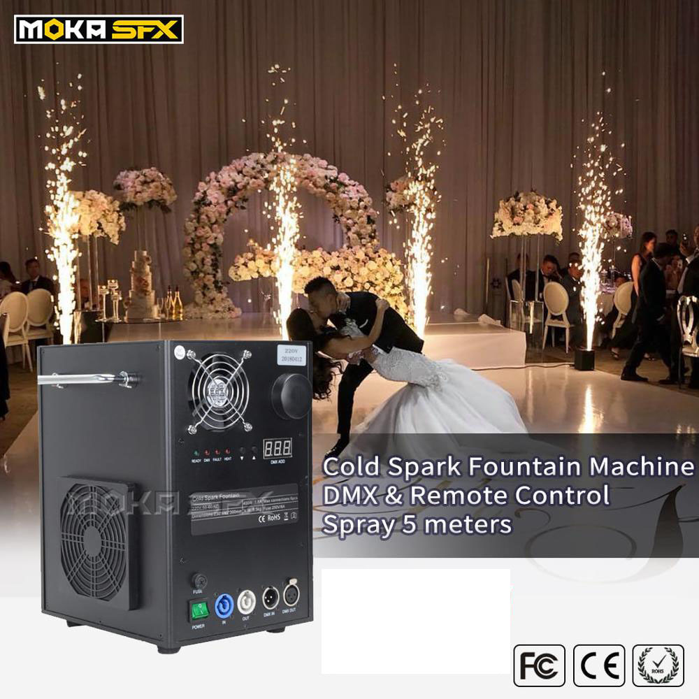 Stage Cold Fireworks Cold Spark Fountain DMX Spark Machine Remote Control For Party Wedding Decoration
