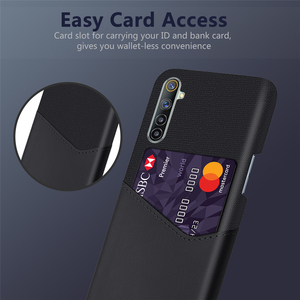 Image 3 - Card Slots Cover For OPPO Realme 6 X7 7 X50 5 Q2 Pro 5i Narzo 20A C17 C12 Business Case For Oppo F17 Reno4 Pro A12e A15 A72 A53