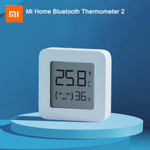 Newest XIAOMI Mijia Bluetooth Thermometer 2 Wireless Bluetooth Smart Electric Digital Hygrometer Thermometer Work with Mijia APP