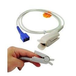 2020 Compatibe for Nellcor Spo2 Sensor,DB9 Pin with 0ximax Tech Adult FingerClip end DS100A Spo2 Sensor ,spo2 probeTPU 1M