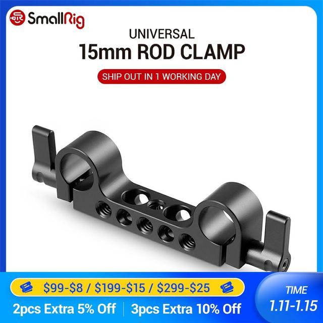 """Smallrig peso leve super 15mm railblock com 1/4 """" 20 linha padrão para câmera gaiola 15mm dslr câmera rig 942"""