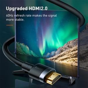 Image 3 - Câble HDMI Baseus 4K HDMI mâle vers HDMI 2.0 cordon de câble pour PS4 Apple TV 4K répartiteur boîtier de commutation Extender 60Hz câble vidéo HDMI 5M