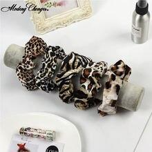 Женские резинки для волос с леопардовым принтом полосатые хвостиков
