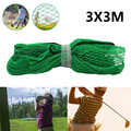 3Mx3M Golf Practice Net Heavy Duty Impact Netting Rope Border Sports Barrier Training Mesh Netting Golf Training Accessories