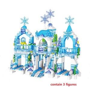 Image 2 - เจ้าหญิงตัวเลขSnow Queenปราสาทน้ำแข็งรุ่นBuilding Blocks Cityเพื่อนอิฐของเล่นเพื่อการศึกษาเด็กDIYของเล่น