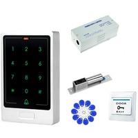 ABKT RFID kit sistema de controle acesso porta do teclado única porta magnética fechadura da porta eletrônica fonte alimentação 5 pçs chave fobs conjunto completo fazer|Trava elétrica| |  -