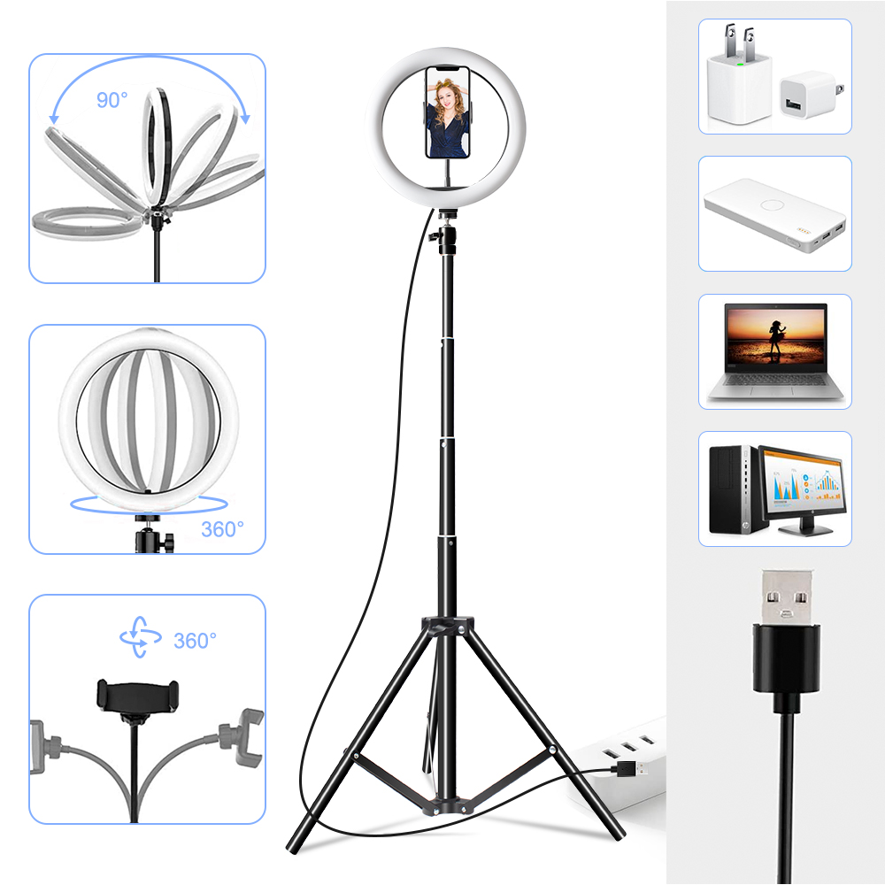 10 Inch Rgb Video Light 16Colors Rgb Ring Lamp For Phone with Remote Camera Studio Large 10 Inch Rgb Video Light 16Colors Rgb Ring Lamp For Phone with Remote Camera Studio Large Light Led USB Ring 26cm for Youtuber