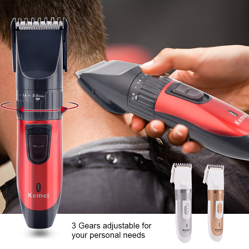 Kemei KM 730 Rechargeable Dry Dual use Hair Clippers Professional Hair Cutting Machine for Men Trimmer Hair Trimmer Haircut KitHair Trimmers   -