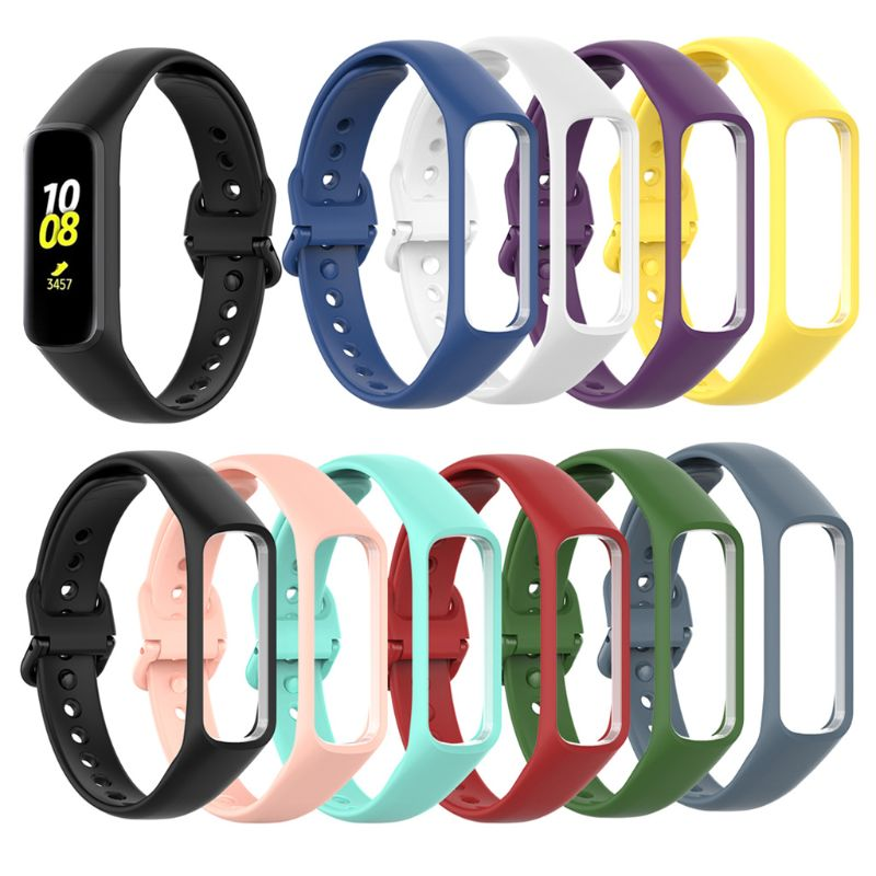 Soft Silicone Sports Watch Strap Wrist Band Replacement For Samsung Galaxy Fit-e R375 Smart Band Bracelet Accessories