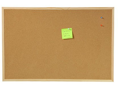 Wall Mounted Cork Board Wood Hanging Message Board 20X30cm