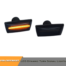 2piece led dynamic side marker turn signal lights for Chevrolet Cruze 2009~2014 car styling accessory for chevrolet cruze led head lamp 2009 to 2011 v4 type