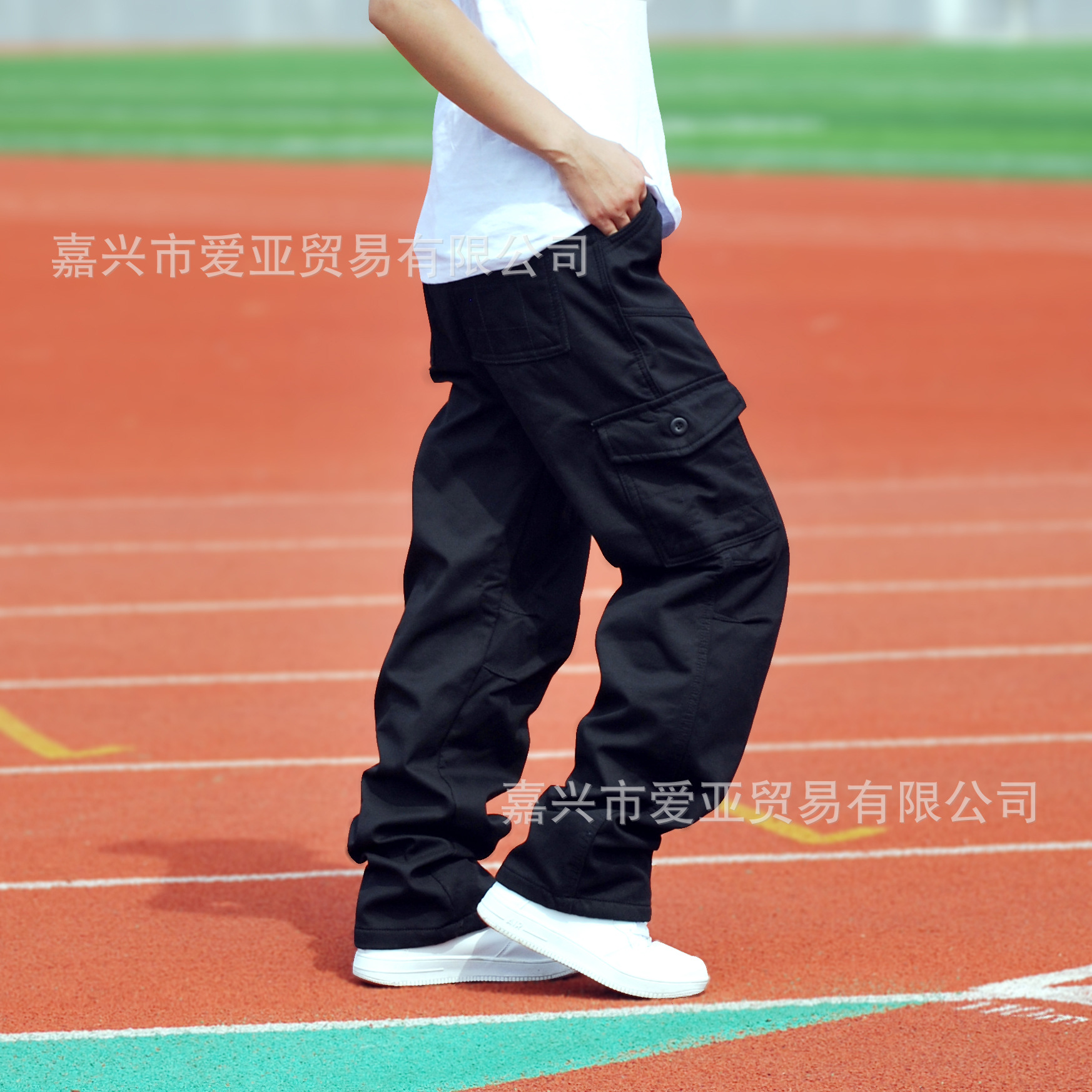 Winter New Style Brushed And Thick Multi-pockets Bib Overall Men Outdoor Casual Pants Large Size Men's Trousers Trousers