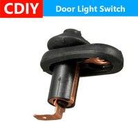 Carro universal veículo interior da porta de cortesia luz interruptor da lâmpada botão parte preto botão do carro automático à prova dwaterproof água|Sensores e interruptores| |  -