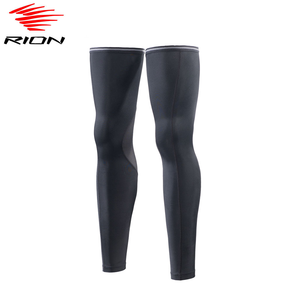 RION Mens Compression Leg Sleeve Warmers Outdoor Sports Safety Running Leggings Breathable UV Protection Cycling Leg Warmers