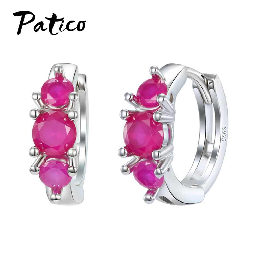 Brand New Statement Cubic Zirconia 925 Sterling Silver Hoop Earring For Women Valentine Day Gifts Luxury Party Jewelry