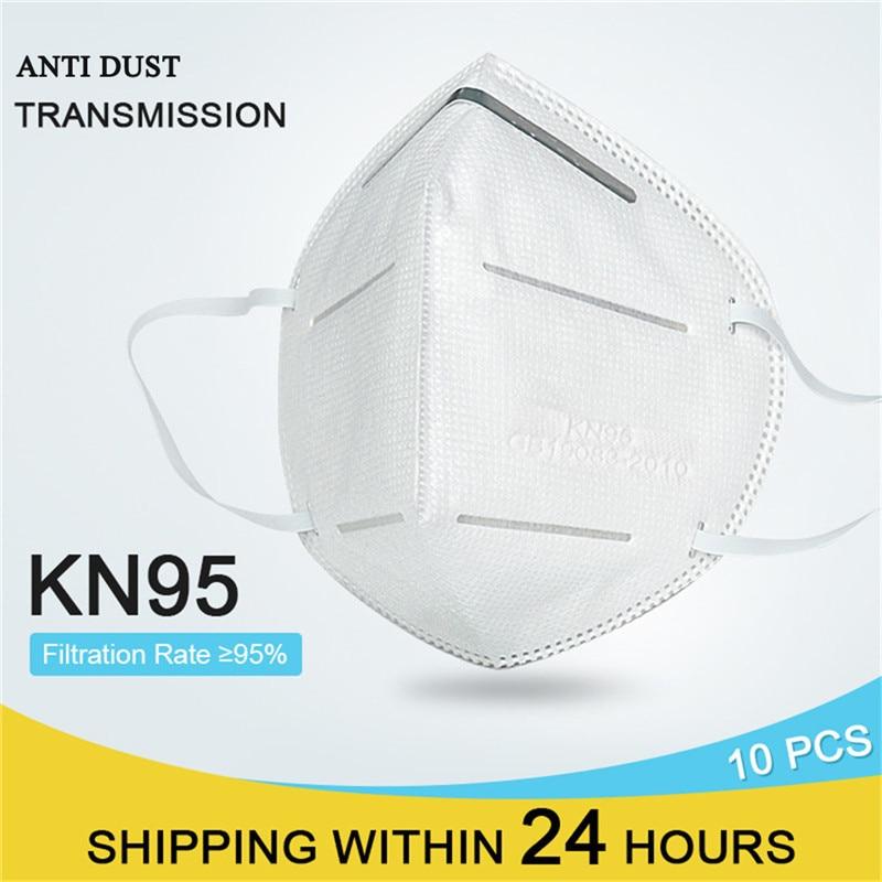 FFP3 Dust Mask KN95 Filter PM2.5 Face Mask Respirator Folding Non-woven Gas Mask Reusable Anti Haze As KF94 DS2 CE Certification