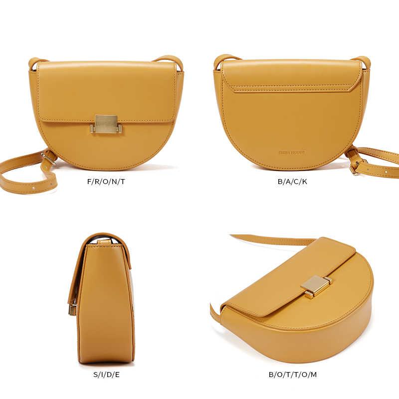 Mini casa chique saco de sela estilo simples cadeado crossbody sacos para as mulheres bolsa de ombro de couro dividido sacos do mensageiro