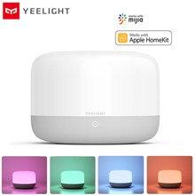 Yeelight lâmpada led de cabeceira colorida, luz noturna, macia, brilhante, aplicativo de controle de voz, suporte para apple homekit e mijia