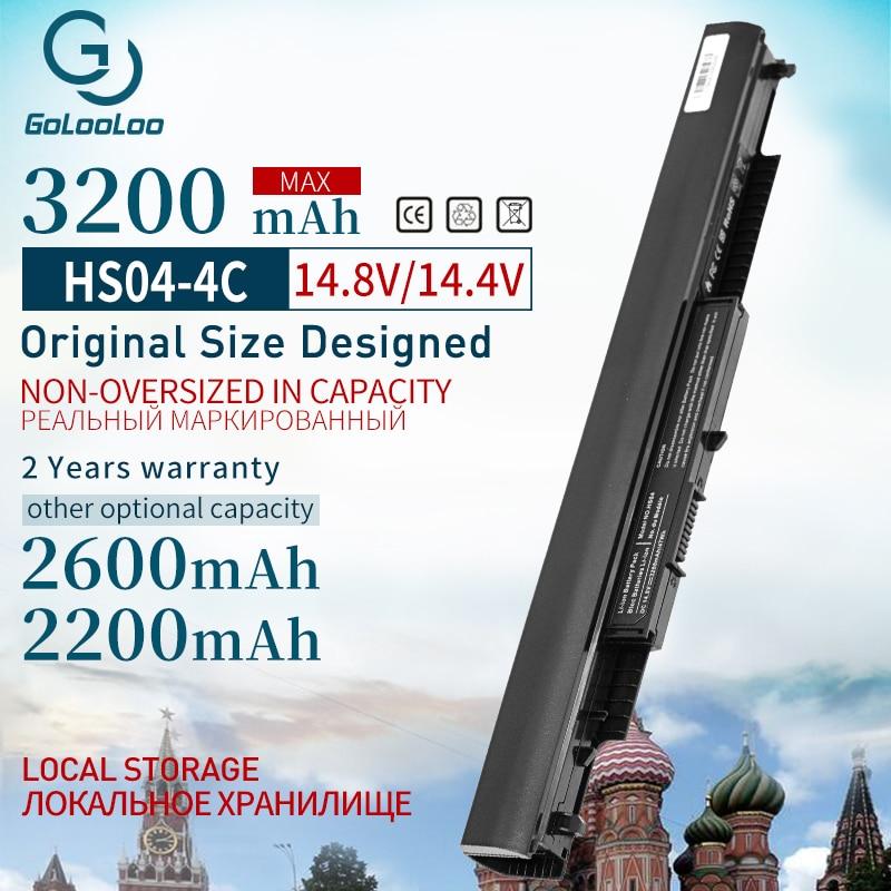 14.8V 4 Cells HSTNN-LB6V 807957-001 Laptop Battery for HP Pavilion 14-ac0XX 15-ac0XX HSTNN-LB6U HS03 HS04 240 245 250 255 G4