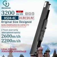 14.8V Células 4 HSTNN LB6V 807957 Bateria Do Portátil para HP Pavilion 14 ac0XX 001 15 ac0XX HSTNN LB6U HS03 G4 HS04 240 245 250 255|Baterias p/ laptop| |  -